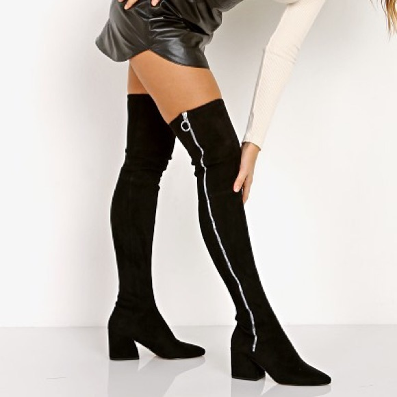 b8801ed29a5 Dolce Vita Shoes - NEW Dolce Vita Vix Over the Knee Black Suede Boot